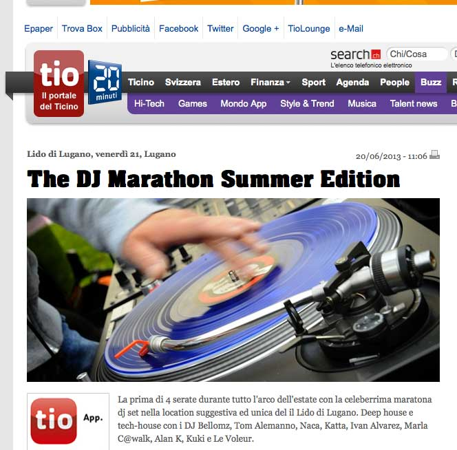 The Dj Marathon @ Lido 2013 Summer Edition